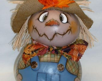 Gourd Scarecrow - Hand Painted Gourds