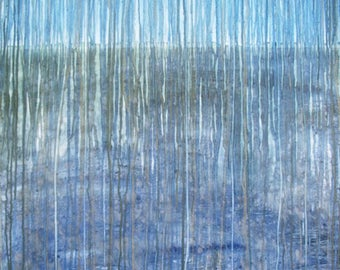 Water Element:  Multiple Day Precipittion Wvent and original watercolor on canvas