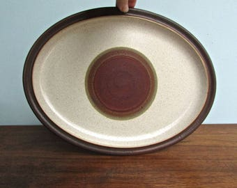 Potter's Wheel Denby Langley Stoneware, Made in England, Potter's Wheel Rust-Red, Large Oviod Platter