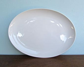 "Eschenbach Bavaria Germany Baronet China White Celeste 14"" Large Ovoid Platter"