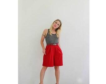 """ON SALE 1980s Savannah Wool Shorts /// Size Small /// 27"""" Waist"""