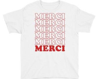 French Shirt Merci Shirt 70s Shirt France Shirt French Tee French Lover Shirt French Lover Gift Vintage French Shirt French T-Shirt