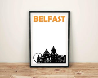 Belfast Print // Northern Ireland Print // City Print // Belfast Poster // Belfast Art // Northern Ireland Poster // Northern Ireland Art