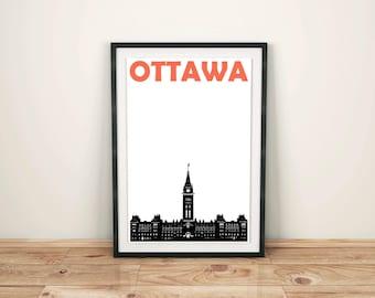 Ottawa Print // Canada Print // Canadian Art // Canada Poster // Ottawa Art // Ottawa Poster // Canadian Gift // Moving Away Gift