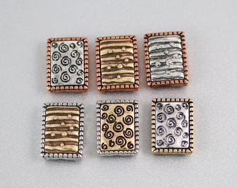 Bracelet Findings - Set of 6 - Findings - Mixed Metals