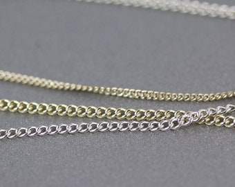 Sterling Silver Curb Chain - 1.4 to 1.8mm