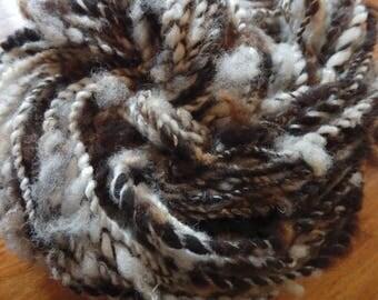Woolly Zebra handspun Jacob fleece bulky yarn, 55 yards