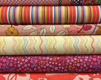 SALE - Moda Ladies Stitching Club Fat Quarter Set - 6 Fat Quarters