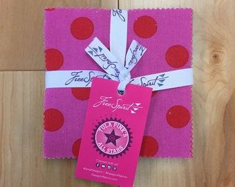 Free Spirit Fabrics Tula Pink Pom Poms Solids and Stripes Charm Pack