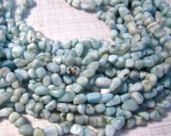 20% OFF SALE Natural Larimar Beads 4mm 5mm 6mm Nugget, Natural Blue Gemstone Small Size, 16 Inches