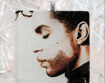 Prince-The Hits Album Cover Glass Ornament