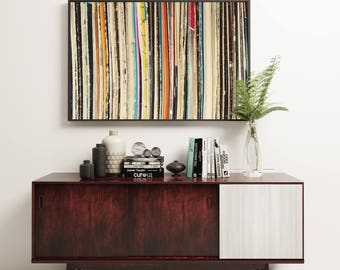 Vinyl Record Art, Music Decor, Abstract Photography - Record Collection