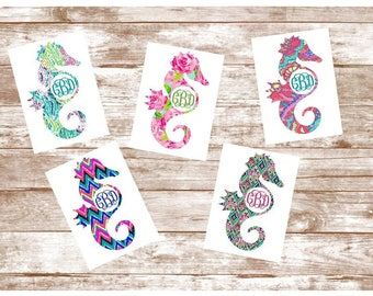 Yeti Decal, Yeti Tumbler Decal,  Yeti Cup Decal, Seahorse Decal, Yeti Decal For Women, Beach Decal