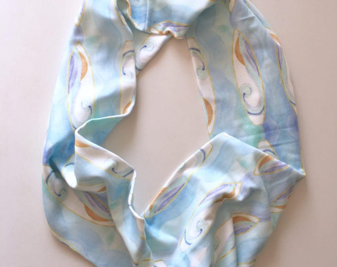 Organic Cotton Infinity Scarf Surf Boards