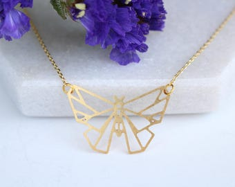 Butterfly Geometric Necklace | ATL-N-179