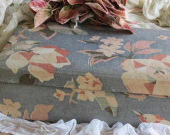 Shabby Chic Lovely Old French Fabric Covered Box