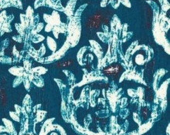 Michael Miller Fabrics French Harp in Teal 1/2 Yard from the Laura Gunn Garden Wall Collection
