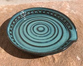 Spoon Rest in Turquoise - Ceramic Stoneware Pottery