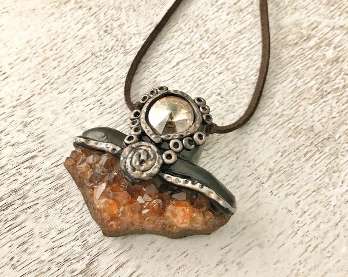 Featured listing image: The Master Healer Illumination Necklace / Quartz / Polymer Clay