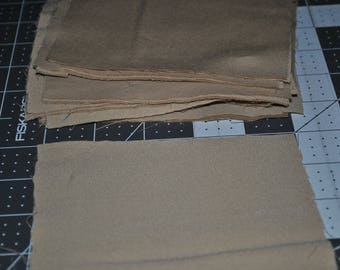 Pack of 34 Beige 5 Inch Squares Scrap Quilting Sheet Vintage
