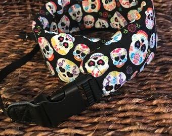 Deluxe Camera Strap, Padded Camera Strap, DSLR Strap, SLR Strap, Skulls