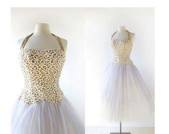 20% off sale 50s Party Dress | La Cendrillon | 1950s Dress | Ballerina Dress | XXXS XXS