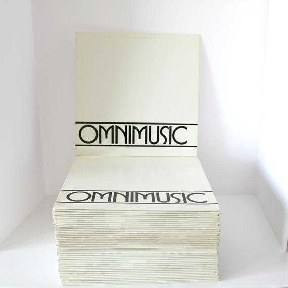 Vintage OmniMusic Lot of 40 LP Record Albums, Complete Set 1-40, OM 101 - 140 Franklin Douglas for Film, TV, Radio