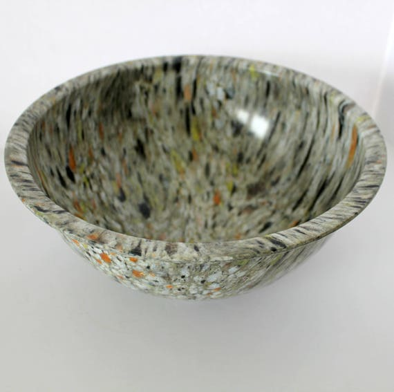 Vintage Texas Ware Confetti Mixing Bowl, No. 125 Splatter 50s Gray Large Bowl
