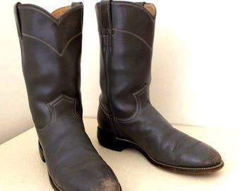 Roper style grey Justin cowboy boots size 7 B
