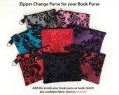 Zipper Purse - Wizard of Oz Zipper Coin Purse - Sherlock Chain Purse - Jane Austen Mini Pouch - Change Bag - Book Purse Zipper Pocket