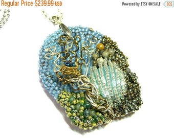 On Sale Seed Bead Pendant Necklace Wearable Art Jewelry Goddess Jewelry Top Selling Jewelry Seed Bead Jewelry