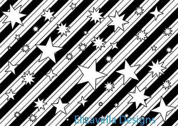 stars pattern stripes pattern png pattern digital background printable wall art black line art coloring png images template digital download