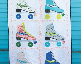 Hot Skates Quilt PDF Paper Piecing Pattern