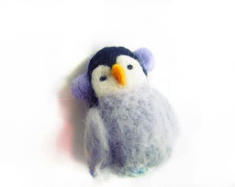 Penguin ornament,Felted Penguin decoration