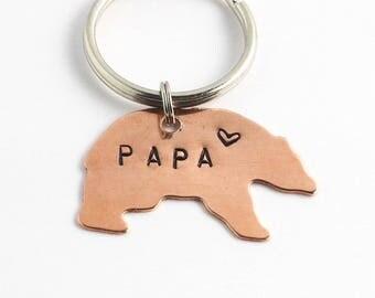 PAPA Bear Key Chain