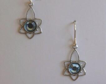 Swarovski earrings on sterling silver ear wires
