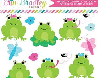 80% OFF SALE Frog Clipart Clip Art Personal & Commercial Use Instant Download