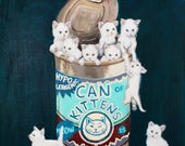 Kittens In A Can - Fine Art Print of Original Painting