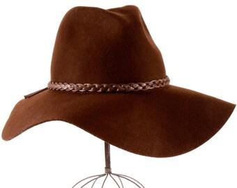 Wide Brimmed Fedora Hat Floppy Women's Hat Winter Accessories Wool Felt Hat Floppy Brim Boho Fashion Bohemian Style Hippie Fashion