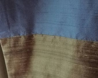 DREAMY silk & wool wrap or throw in avocado, champagne, and sky blue
