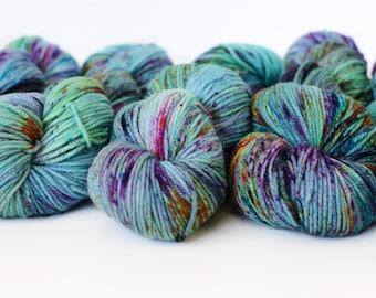 Impressionist 246 yards/ Posh DK Yarn/ superwash merino 4 ply speckle dyed