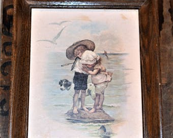 Vintage Sweetness on the Shore Wall Hanging