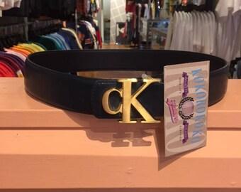 90s Calvin Klein CK Cowhide Large Emblem Medium