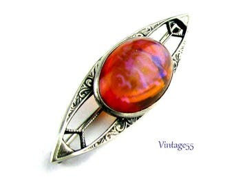 Sterling Brooch Dragons Breath Arts and Crafts