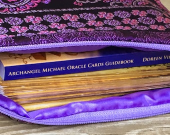 Tarot Card Bag - Oracle Deck Bag - Tarot Bag - Oracle Card Bag - Crystal Wand - Tarot Deck - Tarot Cards - Crystal Bag - Angel Cards Bag