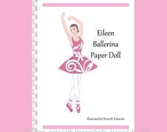 Eileen Ballerina Paper Doll