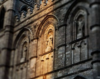 Cathedral Photograph, Architecture Photo, Fine Art Photography, Church Picture, Montreal Print, Wall Decor, Rustic, Canada, Beige, Grey