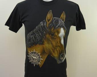 Vintage MUSTANG Horse t-shirt made in USA medium