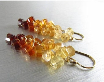 15 Off Hessonite Garnet With Gold Filled Cluster Earrings