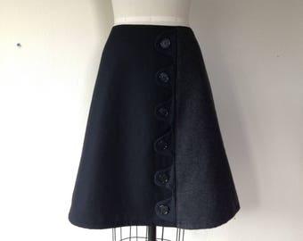 Laila wool asymmetrical a-line skirt Sz 12